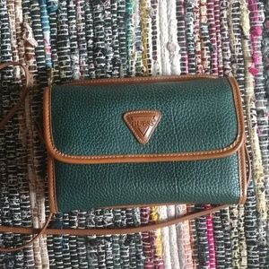 Vintage 90s Guess Green Textured Bag